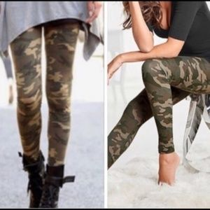 PLUS SIZE CAMO Print Leggings